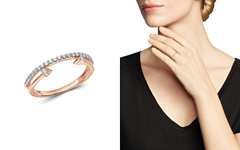 Bloomingdale's Diamond Cuff & Band Ring in 14K Rose Gold, 0.20 ct. t.w. - 100% Exclusive_2