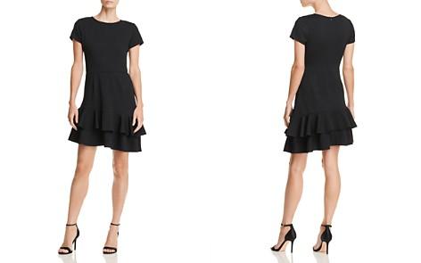 AQUA Tiered Textured Dress - 100% Exclusive - Bloomingdale's_2