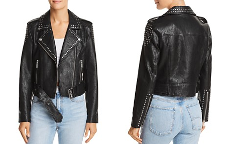 Pistola Tracy Studded Cropped Faux Leather Moto Jacket - Bloomingdale's_2