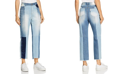 SJYP Tomboy Straight-Leg Patchwork Jeans in Denim - Bloomingdale's_2