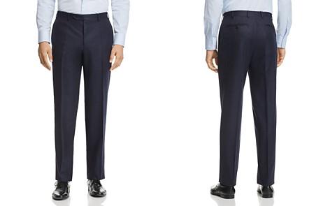 Canali Melange Flannel Classic Fit Dress Pants - Bloomingdale's_2