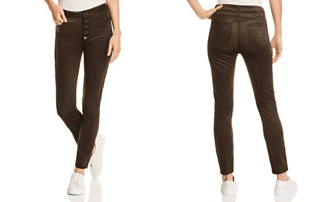 PAIGE Hoxton Ankle Skinny Corduroy Velvet Jeans in Midnight Forest - 100% Exclusive - Bloomingdale's_2