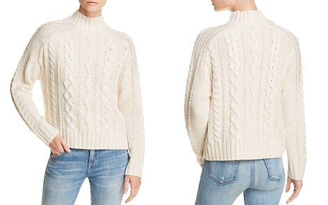 AQUA Embellished Cable-Knit Sweater - 100% Exclusive - Bloomingdale's_2
