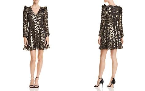 AQUA LUXE Capsule Ruched-Sleeve Metallic Dress - 100% Exclusive - Bloomingdale's_2