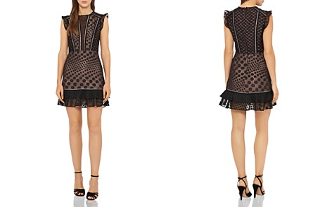 REISS Alexa Embroidered Mini Dress - Bloomingdale's_2