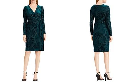 Lauren Ralph Lauren Flocked Velvet Wrap Dress - Bloomingdale's_2