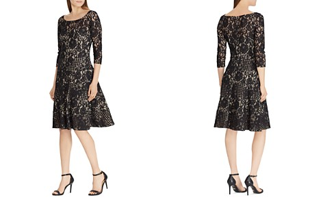 Lauren Ralph Lauren Lace Fit-and-Flare Dress - Bloomingdale's_2