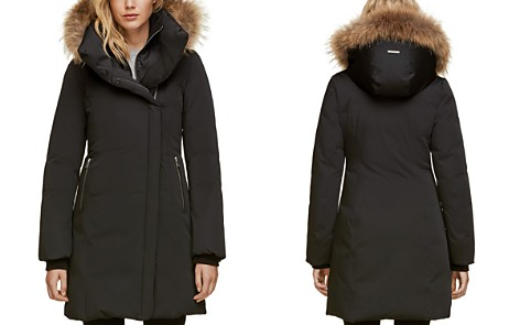 Soia & Kyo Fur Trim Asymmetric Front Down Coat - 100% Exclusive - Bloomingdale's_2