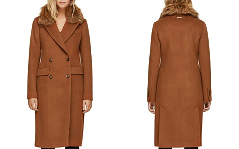 Soia & Kyo Fur Collar Double-Breasted Button Front Coat - Bloomingdale's_2