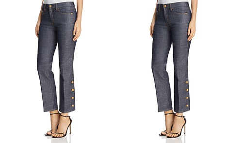 Tory Burch Alexandra Button-Hem Ankle Jeans in Resin Rinse - Bloomingdale's_2