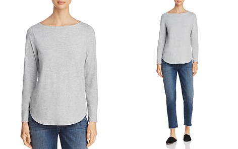 Eileen Fisher Heathered Boat Neck Tee - Bloomingdale's_2