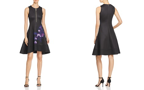 Donna Karan New York Print Detail Fit-and-Flare Dress - Bloomingdale's_2