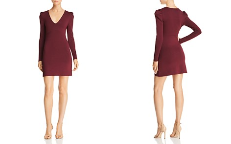 Olivaceous Long-Sleeve V-Neck Bodycon Dress - Bloomingdale's_2