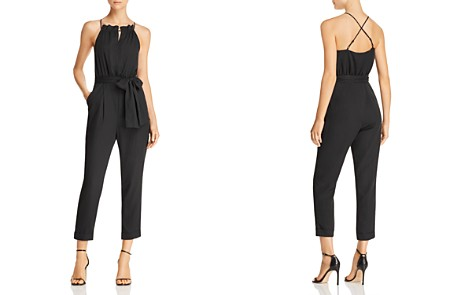 JOA Cross-Back Cropped Jumpsuit - Bloomingdale's_2