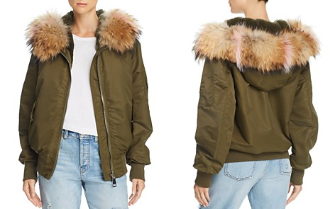 Peri Luxe Fur-Trimmed Bomber Jacket - 100% Exclusive - Bloomingdale's_2