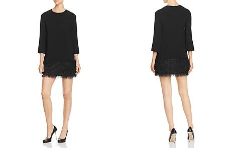 PAULE KA Faux-Feather Detail Mini Dress - Bloomingdale's_2