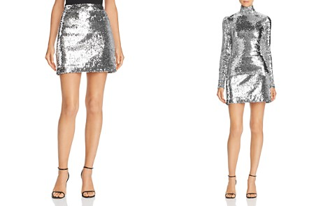 MILLY Modern Sequined Mini Skirt - Bloomingdale's_2