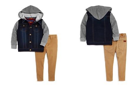 7 For All Mankind Boys' Hooded Denim Jacket, V-Neck Tee & Slim-Fit Pants Set - Baby - Bloomingdale's_2
