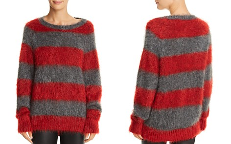 T by Alexander Wang Textured Striped Sweater - Bloomingdale's_2