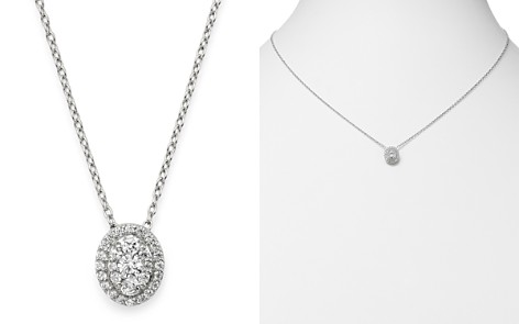 Bloomingdale's Diamond Oval Halo Pendant Necklace in 14K White Gold, 0.3 ct. t.w. - 100% Exclusive_2