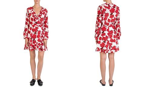 The Kooples Silk Hortensia-Print Ruffled Wrap Dress - Bloomingdale's_2