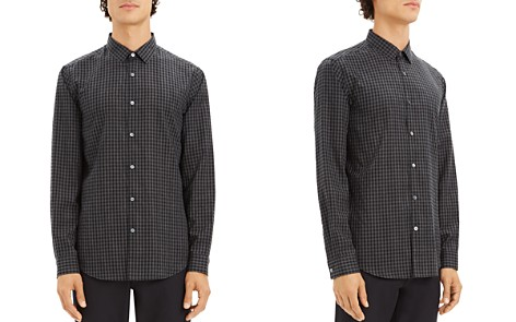 Theory Murrary Gingham-Print Regular Fit Flannel Shirt - Bloomingdale's_2