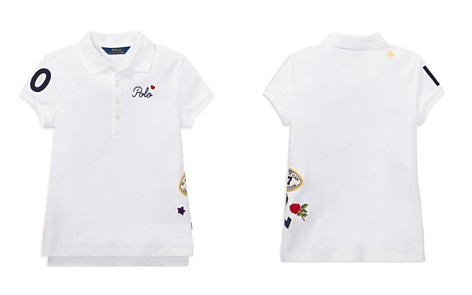 Polo Ralph Lauren Girls' Polo Shirt with Varsity Patches - Big Kid - Bloomingdale's_2