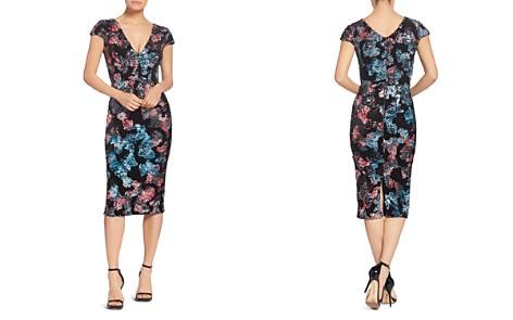 Dress the Population Allison Sequined Velvet Cap Sleeve Dress - Bloomingdale's_2
