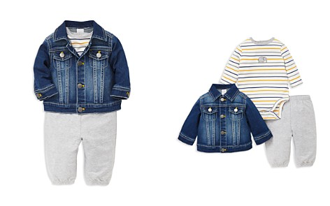 Little Me Boys' Jaunty Denim Jacket, Striped Elephant Bodysuit & Jogger Pants - Baby - Bloomingdale's_2