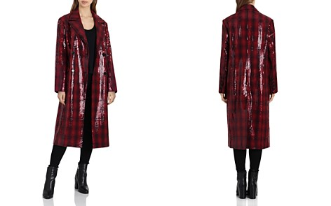 Badgley Mischka Sequined Plaid Coat - Bloomingdale's_2