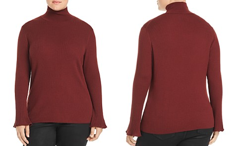 Lafayette 148 New York Plus Ribbed Mock Neck Sweater - Bloomingdale's_2