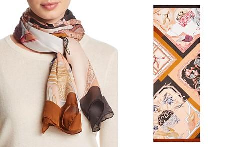 Salvatore Ferragamo Bird Patchwork Print Silk Scarf - Bloomingdale's_2