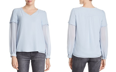 KARL LAGERFELD Faux Pearl-Accented Top - Bloomingdale's_2