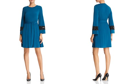 MICHAEL Michael Kors Lace Trim Dress - Bloomingdale's_2