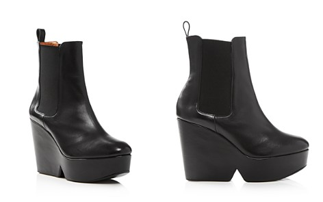 Clergerie Women's Beatrice Leather Platform Wedge Booties - Bloomingdale's_2