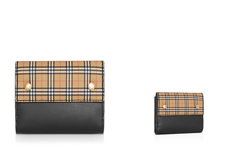 Burberry Small Scale Check Leather Folding Wallet - Bloomingdale's_2