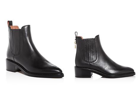 COACH Women's Bowery Leather Pointed Toe Block-Heel Booties - Bloomingdale's_2