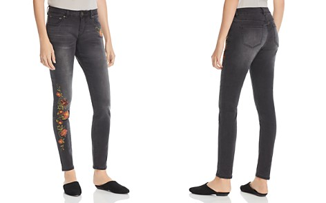 JAG Jeans Sheridan Skinny Embroidered Jeans in Coalwash - Bloomingdale's_2