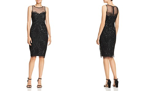 Adrianna Papell Beaded Illusion Sheath Dress - Bloomingdale's_2