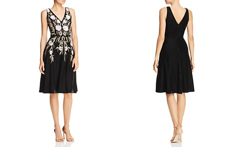 Aidan Mattox Sequined Floral Velvet Dress - Bloomingdale's_2
