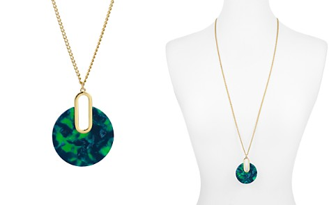 """AQUA Marled Disc Pendant Necklace, 32"""" - 100% Exclusive - Bloomingdale's_2"""