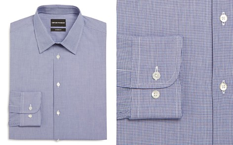 Emporio Armani Micro Check Modern Fit Dress Shirt - Bloomingdale's_2