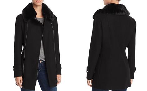 AQUA Faux Fur-Collar Coat - 100% Exclusive - Bloomingdale's_2