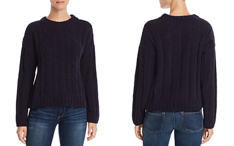 AQUA Cable Detail Chenille Sweater - 100% Exclusive - Bloomingdale's_2