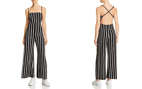 Olivaceous Strappy Striped Jumpsuit - Bloomingdale's_2