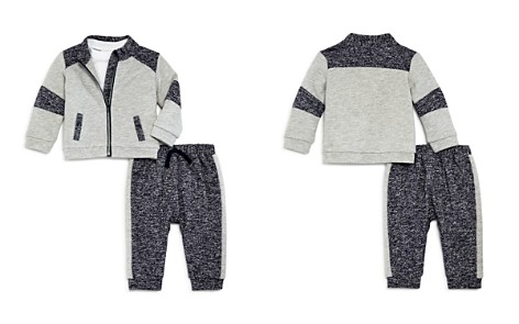Miniclasix Boys' Contrast Jacket, Top & Jogger Pants Set - Baby - Bloomingdale's_2