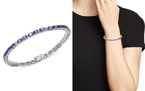 Bloomingdale's Tanzanite & Diamond Bracelet in 14K White Gold - 100% Exclusive_2