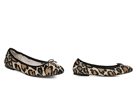 Sam Edelman Women's Felicia Round Toe Leopard-Print Calf Hair Ballet Flats - Bloomingdale's_2