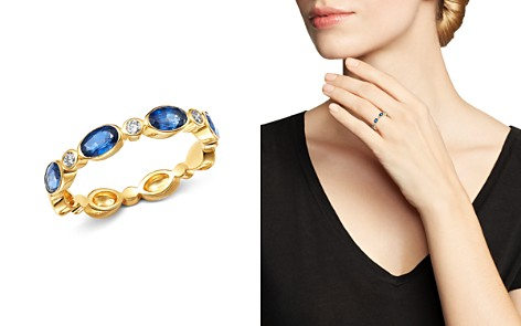 Bloomingdale's Sapphire & Diamond Oval Band in 14K Yellow Gold - 100% Exclusive_2