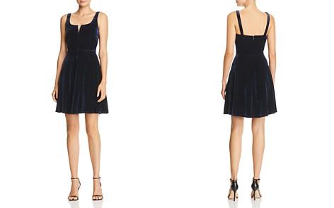 AQUA Notch Neck Velvet Dress - 100% Exclusive - Bloomingdale's_2